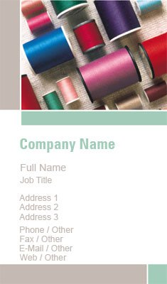 Thread Spool Business Card Template